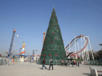 Iraqi Christians have raised a 30-ft. tall Christmas tree in Baghdad to celebrate both the holiday and the expulsion of ISIS extremists by Iraq Security Forces.