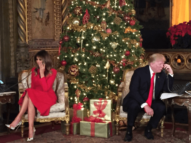 Trumps Take Calls from Kids on Christmas Eve