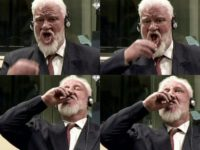 Slobodan Praljak died in hospital shortly after necking the contents of a small brown glass bottle in the ICTY courtroom