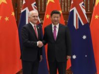 Australia's Prime Minister Malcolm Turnbull, seen here with Chinese President Xi Jinping, told Beijing he was merely defending Australian interests after a row over alleged foreign interference