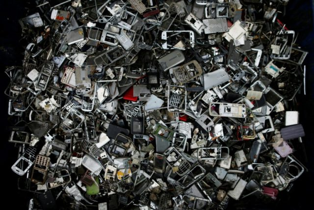 A full 44.7 million tonnes of so-called e-waste was generated around the world in 2016, up eight percent from 2014, according to the UN's International Telecommunication Union, the UN University and the International Solid Waste Association