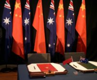 China lodged an official protest with Canberra last week