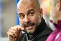 Manchester City manager Pep Guardiola pictured before kick-off in the English Premier League match between his side and Huddersfield Town at the John Smith's stadium in Huddersfield, northern England on November 26, 2017
