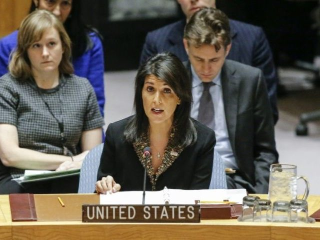 UN Ambassador Nikki Haley drew a list of possible measures against Iran that immediately drew strong reservations from Russia