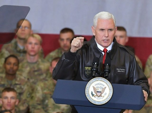 US Vice President Mike Pence made an unannounced pre-Christmas visit to Afghanistan Thursday, addressing troops at Bagram Air Field