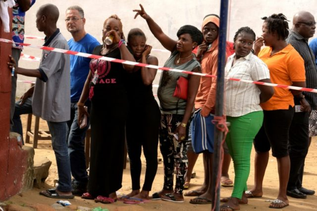 Liberians voted for a new president in the country's first democratic transition of power since 1944