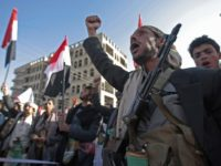 Supporters of Shiite Houthi rebels attend a rally in Sanaa, Yemen, Tuesday, Dec. 5, 2017. The killing of Yemen's ex-President Ali Abdullah Saleh by the country's Shiite rebels on Monday, as their alliance crumbled, has thrown the nearly three-year civil war into unpredictable new chaos. (AP Photo/Hani Mohammed)