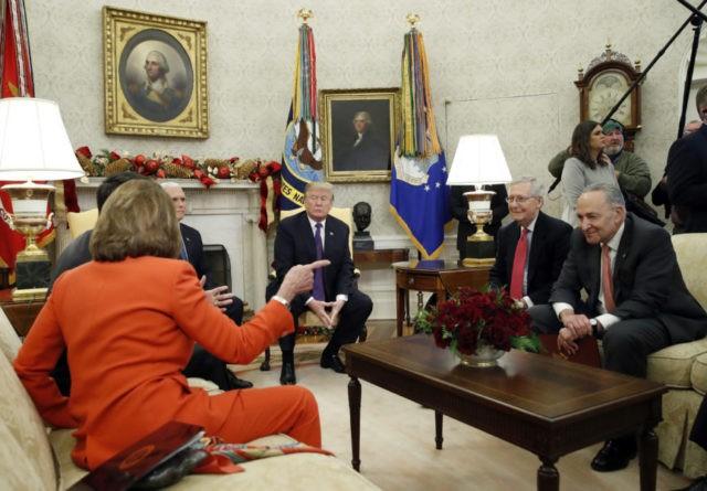 Donald Trump, Mike Pence, Paul Ryan, Nancy Pelosi, Mitch McConnell, Chuck Schumer