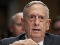 "FILE - In this Oct. 30, 2017, file photo, Secretary of Defense Jim Mattis, testifies during a Senate Foreign Relations Committee hearing on ""The Authorizations for the Use of Military Force: Administration Perspective"" on Capitol Hill in Washington. For only the second time since 9/11, America's defense secretary didn't visit …"