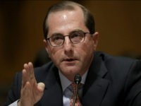 WASHINGTON, DC - JANUARY 09: Alex Azar, Secretary of Health and Human Services nominee, testifies before the Senate Finance Committee January 9, 2018 on Capitol Hill in Washington, DC. Azar testified before the committee on his nomination to join U.S. President Donald TrumpÕs Cabinet. (Photo by Win McNamee/Getty Images)