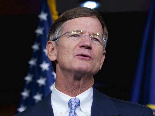 FILE - In this Aug. 10, 2010 file photo, Rep. Lamar Smith, R-Texas speaks during a news conference on Capitol Hill in Washington. Smith, a member of the Judiciary Committee is one of five key representatives for approval of a reform of the immigration laws. (AP Photo/Drew Angerer, File)