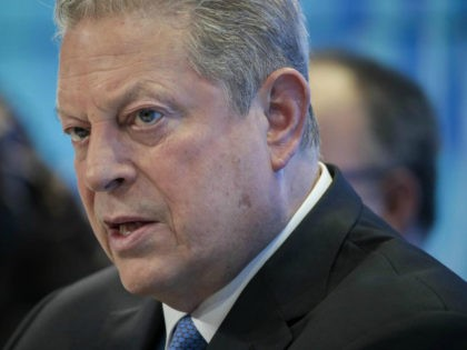 Former U.S. Vice President Al Gore, chairman and president of Generation Investment Management LLP, speaks during a panel session on day two of the World Economic Forum (WEF) in Davos, Switzerland, on Wednesday, Jan. 24, 2018. World leaders, influential executives, bankers and policy makers attend the 48th annual meeting of …