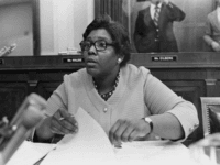 American congresswoman Barbara Jordan (1936 - 1996) from Texas, on the House Judiciary Committee during a hearing on the impeachment of President Richard Nixon, Washingon D.C., July 1974. Photo by Keystone/Hulton Archive/Getty Images)