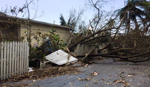 Chibad Jewish Center of the Key West in wake of Hurricane Irma. (Photo: Becket Law Firm)