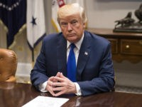 FILE: U.S. President Donald Trump listens during a meeting with congressional leadership in the Roosevelt Room of the White House in Washington, D.C., U.S., on Tuesday, Nov. 28, 2017. Trump will dominate the Davos forum as no U.S. leader has before: a provocateur-in-chief practiced at tweaking the elites wholl gather …