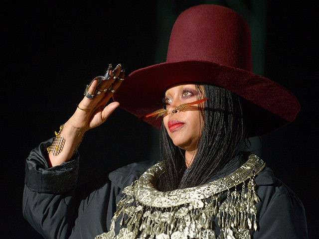 LOS ANGELES, CA - NOVEMBER 13: Erykah Badu performs on Camp Stage during day two of Tyler, the Creator's 5th Annual Camp Flog Gnaw Carnival at Exposition Park on November 13, 2016 in Los Angeles, California. (Photo by Matt Winkelmeyer/Getty Images)