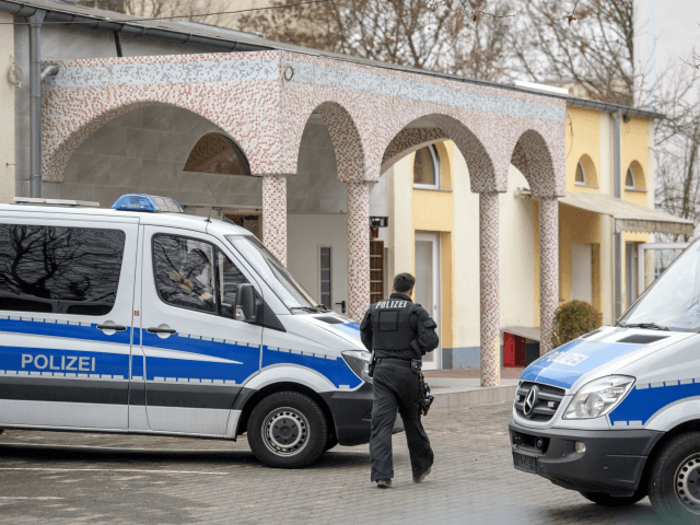 FRANKFURT AM MAIN, GERMANY - FEBRUARY 01: Police are seen outside the Bilal mosque in Griesheim district following anti-terror raids across the state of Hesse on February 1, 2017 in Frankfurt, Germany. Approximately 1,000 police officers were involved in the raids of 54 residences, apartments and businesses. Police arrested a …