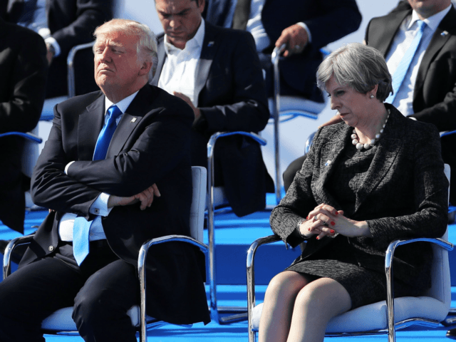 'We love your country,' Trump tells May
