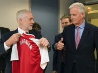 Michel Barnier and Jeremy Corbyn