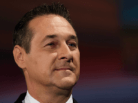 VIENNA, AUSTRIA - OCTOBER 12: Heinz-Christian Strache of the right-wing Austrian Freedom Party (FPOe) is seen at ORF studios ahead the 'Elefantenrunde' television debate between the lead candidates prior to legislative elections on October 12, 2017 in Vienna, Austria. Austria will hold elections on October 15 and many analysts are …