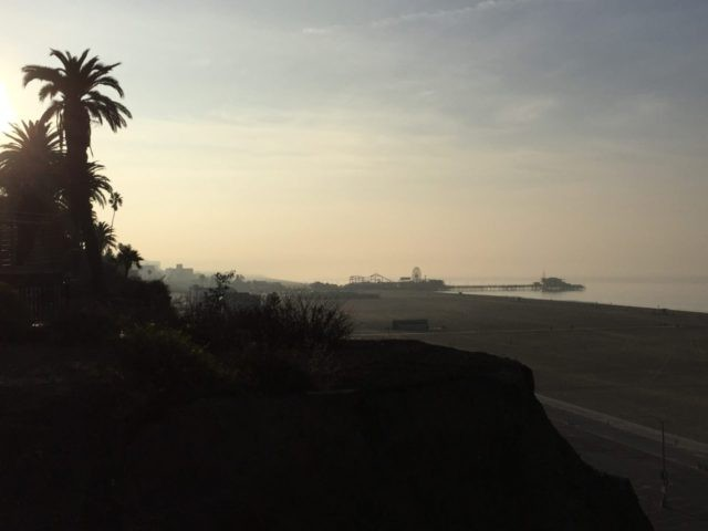 Santa Monica California coast (Joel Pollak / Breitbart News)