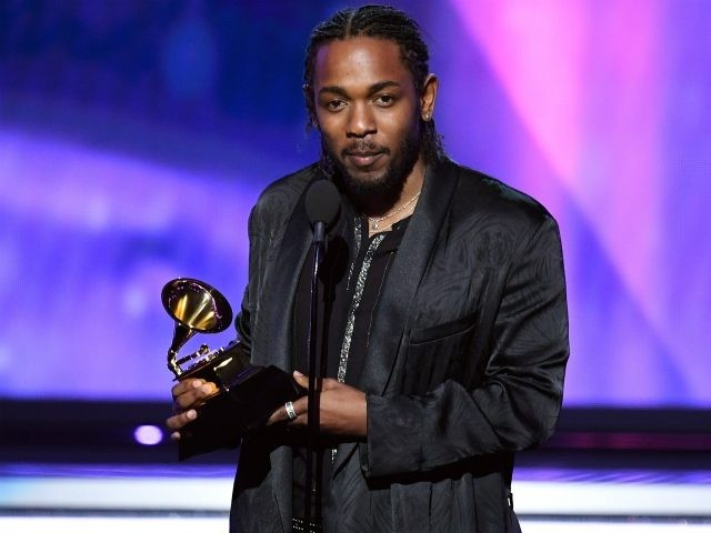 Recording artist Kendrick Lamar accepts Best Rap Album for 'DAMN.' onstage during the 60th Annual GRAMMY Awards at Madison Square Garden on January 28, 2018 in New York City. (Photo by Kevin Winter/Getty Images for NARAS)