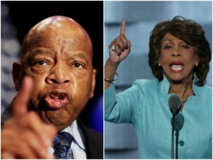 John Lewis and Maxine Waters collage