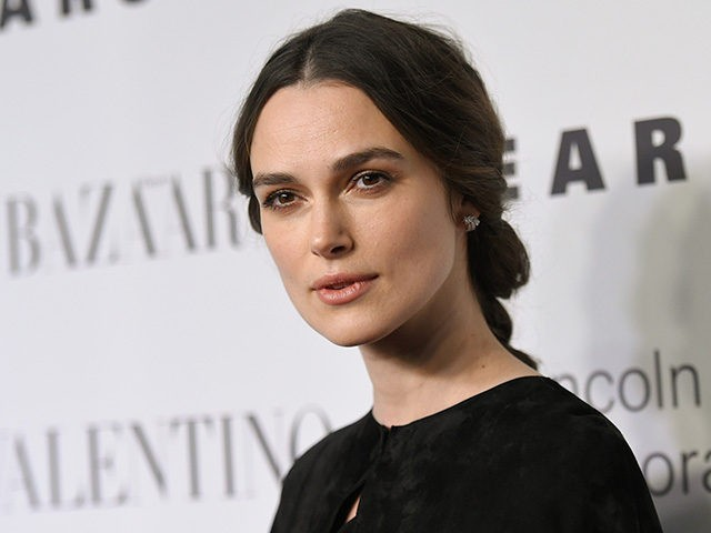 "Actress Keira Knightley attends ""An Evening Honoring Valentino"" gala, hosted by the Lincoln Center Corporate Fund, at Alice Tully Hall on Monday, Dec. 7, 2015, in New York. (Photo by Evan Agostini/Invision/AP)"
