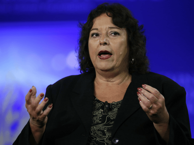 US Committee for Refugees and Immigrants President and CEO Lavinia Limon speaks during the Clinton Global Initiative annual meeting September 29, 2015 in New York. AFP PHOTO/JOSHUA LOTT (Photo credit should read Joshua LOTT/AFP/Getty Images)