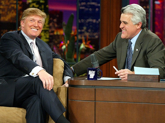 BURBANK, CA - JANUARY 13: Entrepreneur Donald Trump on 'The Tonight Show with Jay Leno' on January 13, 2004 at the NBC Studios, in Burbank, California. (Photo by Kevin Winter/Getty Images