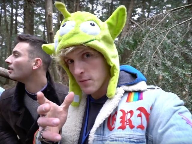 Logan Paul in a YouTube video from Japan's Suicide Forest