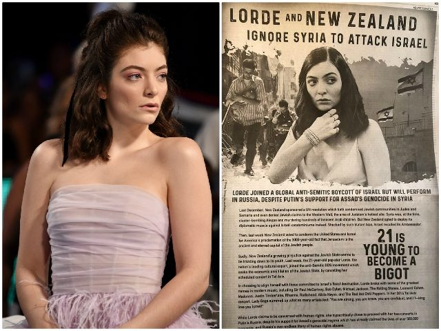Lorde WaPo Ad Getty/Twitter