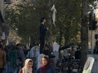 My Stealthy Freedom photograph: This woman hung her scarf on a stick and waved it in the air in protest to compulsory hijab