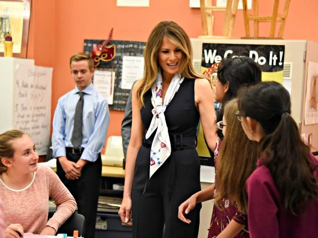 Melania Trump Visits Americans