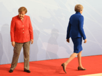 HAMBURG, GERMANY - JULY 07: Prime Minister Theresa May and German Chancellor Angela Merkel attend the G20 summit on July 7, 2017 in Hamburg, Germany. Leaders of the G20 group of nations are meeting for the July 7-8 summit. Topics high on the agenda for the summit include climate policy …