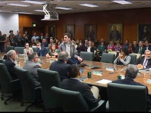 A student at Michigan State disrupts a Board of Trustees meeting to appoint an interim President