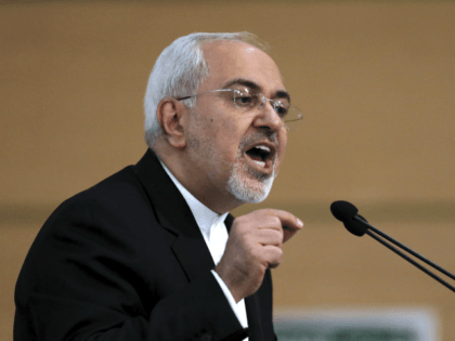 Iran's foreign minister Mohammad Javad Zarif speaks during the Tehran Security Conference in Tehran, Iran, Monday, Jan. 8, 2018. Iran's foreign minister has warned neighboring countries over fomenting insecurity in his country, a reference to anti-government protests that have roiled Iran over the past two weeks. (AP Photo/Ebrahim Noroozi)