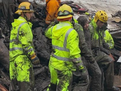 Montecito mudslides (Mike Eliason / Santa Barbara County Fire Department via Associated Press)
