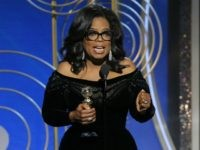 In this handout photo provided by NBCUniversal, Oprah Winfrey accepts the 2018 Cecil B. DeMille Award during the 75th Annual Golden Globe Awards at The Beverly Hilton Hotel on January 7, 2018 in Beverly Hills, California. (Photo by Paul Drinkwater/NBCUniversal via Getty Images)