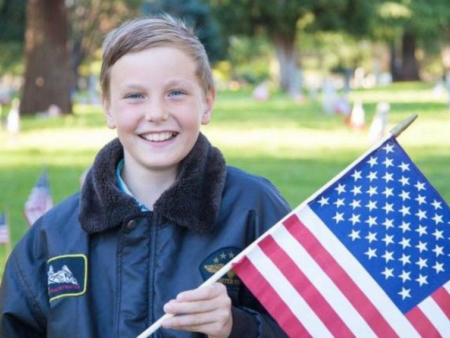 President Donald Trump and first lady Melania will take time during Tuesday's State of the Union (SOTU) address to honor Preston Sharp, a California boy, who has been placing miniature American flags on the graves of soldiers since 2015.