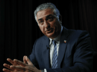 Iran's long exiled Crown Prince Reza Pahlavi speaks during an interview at the Associated Press bureau in Washington, Thursday, April 6, 2017. Pahlavi is hoping for a peaceful revolution in his homeland in the age of Donald Trump. But whether Pahlavi could translate nostalgia for the Iran's monarchy and its pre-Islamic Republic past remains unseen. (AP Photo/Carolyn Kaster)