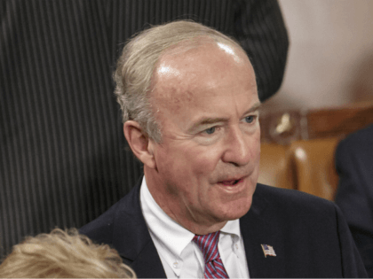 In this Sept. 18, 2014, file photo, U.S. Rep. Rodney Frelinghuysen, R-N.J., attends a joint meeting of Congress in the House of Representatives chamber at the Capitol in Washington. Saily Avelenda, a New Jersey woman who joined a group urging Frelinghuysen to distance himself from President Donald Trump's policies, said …