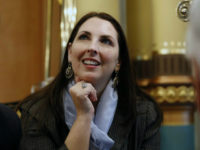Michigan Republican Party chair Ronna Romney McDaniel, chair for the Republican National Committee nominee for U.S. President-elect Donald Trump, attends the electoral college vote at the state capitol building in Lansing, Michigan, U.S., on Monday, Dec. 19, 2016. The Electoral College's 538 members are assembling across the nation with all signs pointing to their affirmation of Donald Trump as the next U.S. president, ending the hopes of some Democrats for an unprecedented rebellion that would overturn the Nov. 8 election results. Photographer: Jeff Kowalsky/Bloomberg via Getty Images