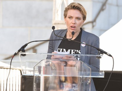 LOS ANGELES, CA - JANUARY 20: Scarlett Johansson attends Women's March Los Angeles 2018 on January 20, 2018 in Los Angeles, California. (Photo by Presley Ann/Getty Images)