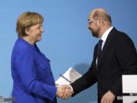 Merkel and Martin Schulz