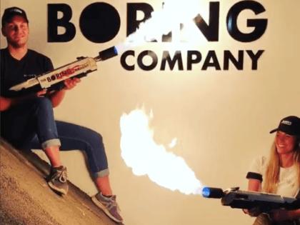 Boring Company flamethrowers (Elon Musk / Instagram)
