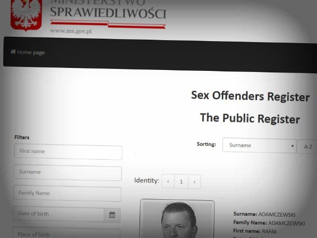 On the sex offenders register