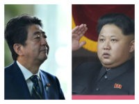 Japanese Prime Minister Shinzo Abe and North Korean dictator Kim Jong-un collage