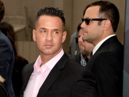 TV personality Mike 'The Situation' Sorrentino arrives at the 2013 MTV Movie Awards at Sony Pictures Studios on April 14, 2013 in Culver City, California. (Photo by Jason Merritt/Getty Images)