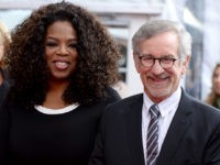 NEW YORK, NY - AUGUST 04: Producer Oprah Winfrey (L) and director Steven Spielberg attend the 'The Hundred-Foot Journey' New York premiere at Ziegfeld Theater on August 4, 2014 in New York City. (Photo by Dimitrios Kambouris/Getty Images)